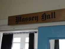 The doorway to the old school hall, about to surprise and delight me…