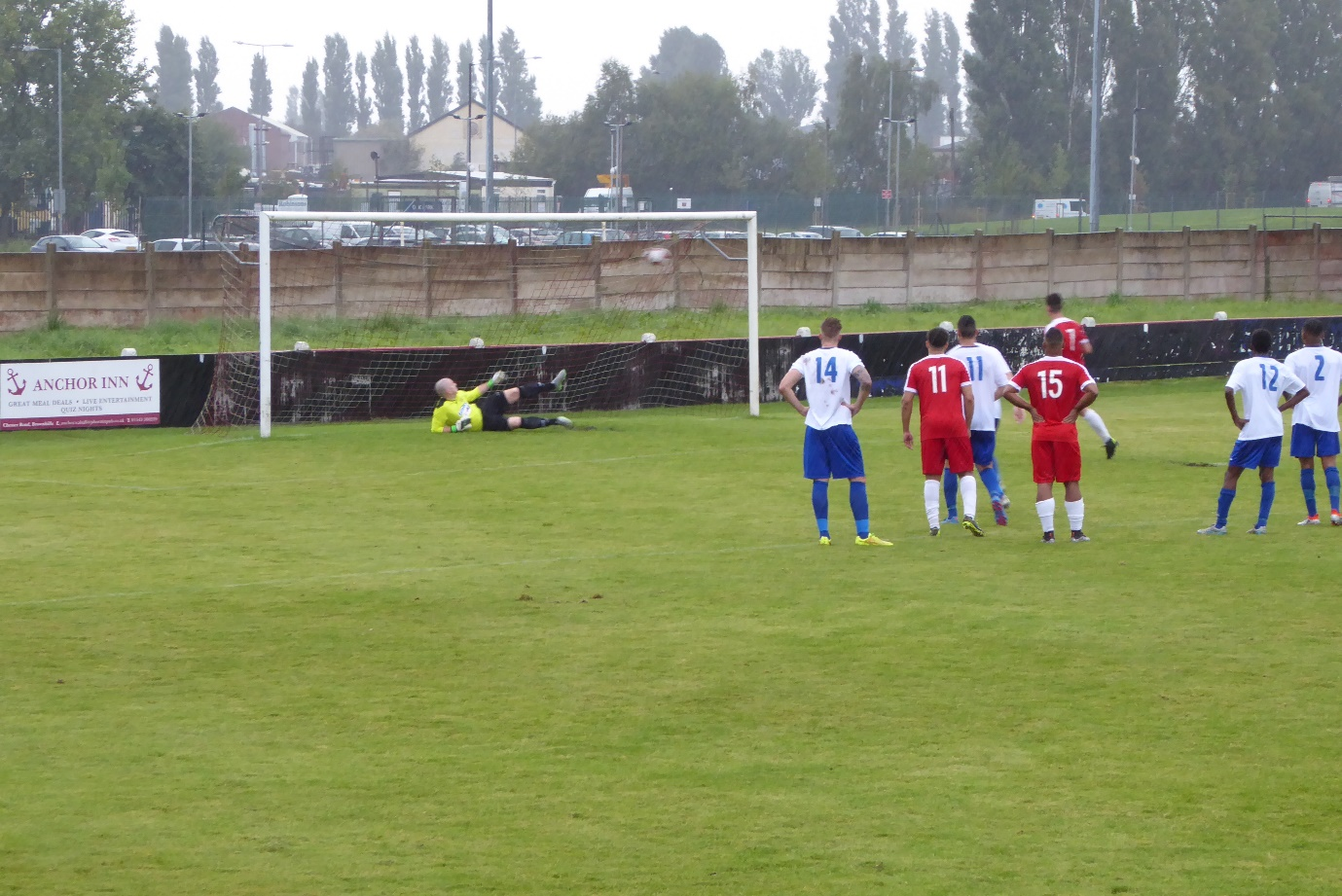 Superbly taken penalty shot brings the Wood's second-half goal.