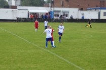 The match ends and sporting players shake hands. A fair result and a win for Coleshill today
