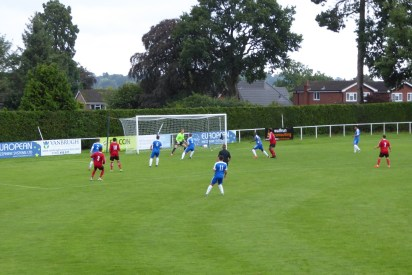 Wulves put early pressure on the Wood goal in this well played match