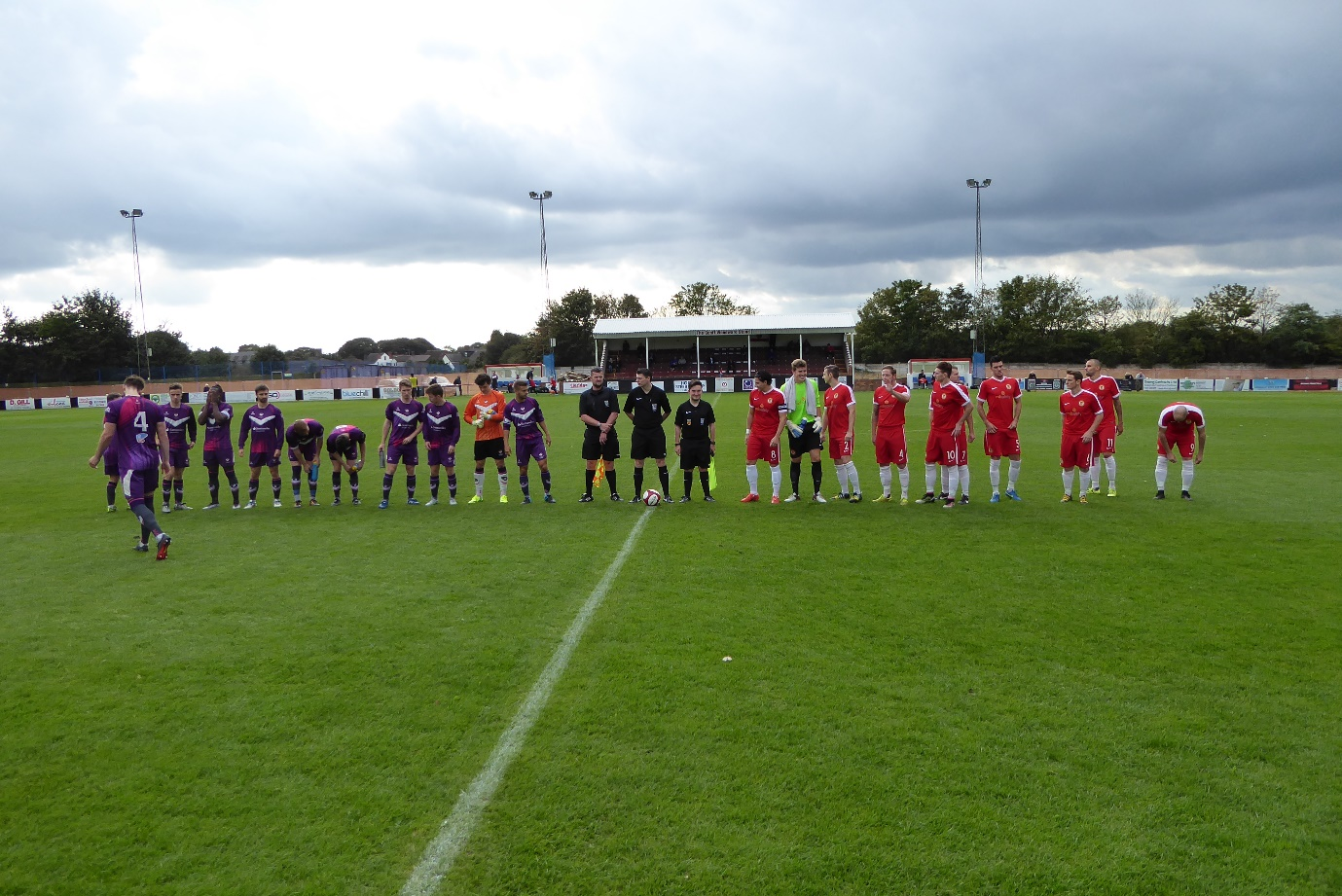 Today's line-up with Loughborough playing in purple