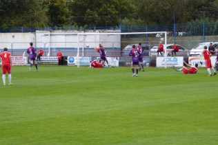 An early attack by the Wood brought out the best in the opponents' goalkeeper. A fine save.