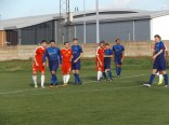 The closeness of footballing sportsmen seen here as Stourport square up to attack from a free kick
