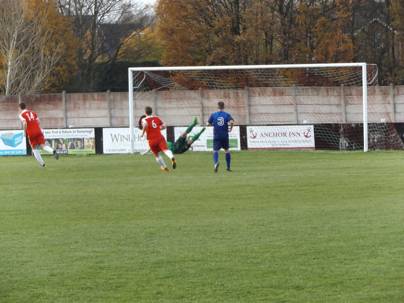 Drew fires from the penalty spot and it's a goal to the Wood and the home spectators are mightily chuffed