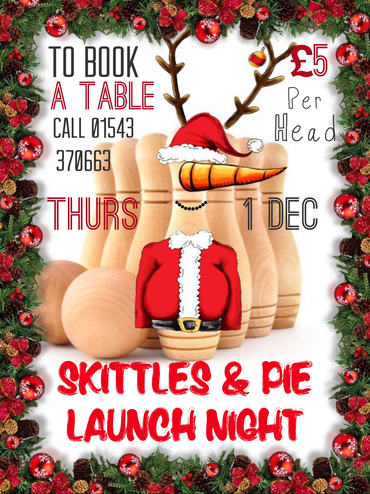 Chase Christmas Eve Hours.Skittles And Pie Nights At The Chase Inn Starting Tonight