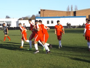 Team rejoice after the first goal. How would St Andrews respond?