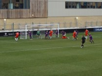 Goalmouth action as the Wood put more pressure on the opponents' defence. Delightful to see