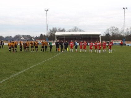 Customary prematch handshake gives no hint of the thriller of a game that was to follow