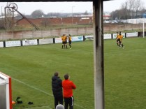 Rocester score the first of their three goals. How would the Wood respond?