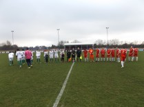 Coventry United wore white on this, their first visit to the Theatre of Dreams.