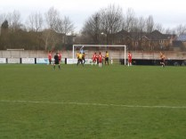 And so nearly a well-worked goal to Romulus, late in the second half.
