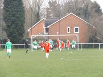 Second half full-blooded assault on Brocton goalmouth by the Wood as Brocton man the battlements! Cracking soccer in this half