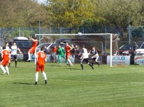 Another powerful header as the Wood work hard to score the equaliser. But not just yet a while
