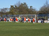 Long Eaton in a last ditch attempt to score the equalising goal, but to no avail. Today belonged to the Wood.