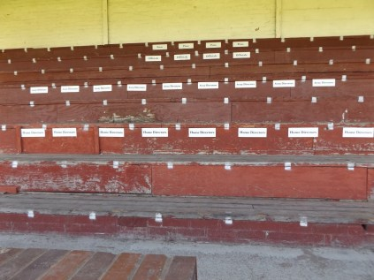 Seating for the VIPs!