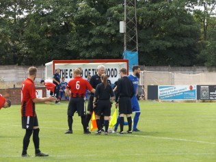 Pelsall played in their home strip of red and black.