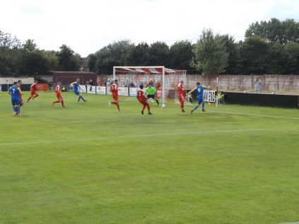 Atherstone in attack mode as the Wood rush to intercept and defend. Super soccer