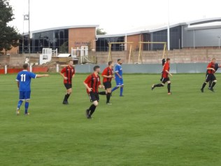 After the goal its straight back to work for Pelsall