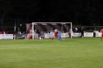 Heather goalkeeper put to the test late in the game..