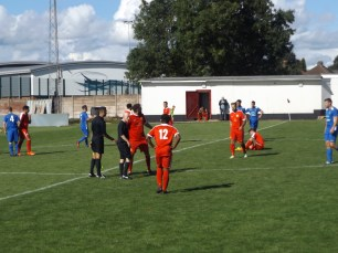 The match ends with applause for both teams, and a special round of applause by the away supporters as their team leave the pitch. Whitchurch, it was a pleasure to spectate this game and to welcome your wonderful supporters.