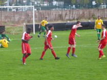 That precious moment when you score that important goal. The Wood sparkle in the rain