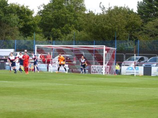 First half and a goal on its way for the Wood.