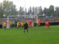 First half attacking move by the Wood brings super reaction by Bolehill keeper as he rises high to punch clear. Excellent. The games far from over at this moment, then.