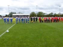 Customary line up complete with todays WWFC mascots, the Vipers