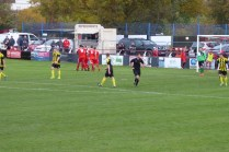 Holbeach visibly shocked after going two goal down. But their sportsmanship shone through and helped to make this a jewel of a game today.