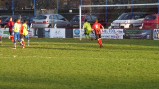 Pelsall on the attack..if only the goalmouth was a few inches wider!