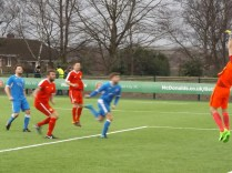 First half and so nearly an equaliser to Lichfield, all in the blur of the action.