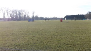 A minute of silence before the start of the game.
