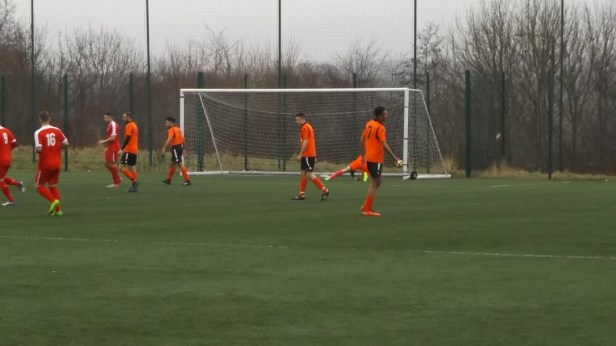 The Wood score a goal against Pelsalls guest goalkeeper. And all in focus.