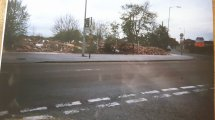 The site of the old Co-op, Walsall Wood, note Ken Hodges yard on the corner. Image posted by Joy Spears.