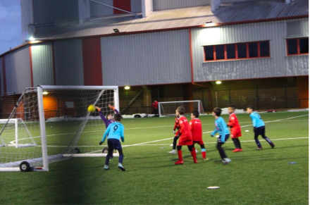 An action shot of one of our goals