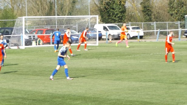 Pershore on the attack again to try to draw level. First half