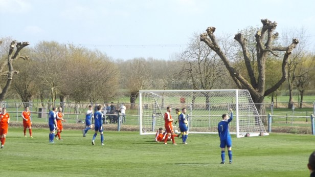 Later in the first half. Was it a goal linesman? Yes. The ball is in the back of the net.