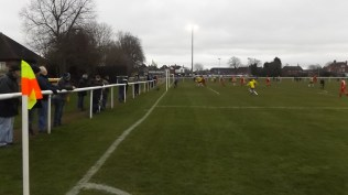 Second half, now, and a different viewing position, and a slightly less windy part of the ground.