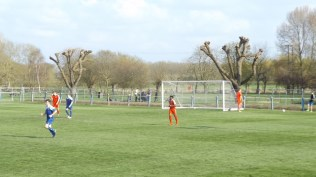 Later in the second half and Pershore have a spring in tier step and renewed effort is apparent.