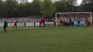 Paget Rangers, downcast, but only for a moment after the second goal. Come on Paget.
