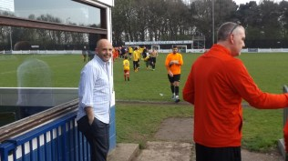 Justin Hodgin, WWFC Chairman waits to applaud and congratulate all the players as they leave the pitch,