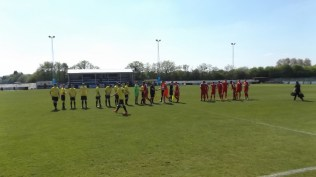 Nuneaton Griff played in yellow this afternoon