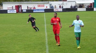 First half and both sides are testing their opponents whilst the excellent referee pays close attention