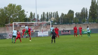 Another attack on the Wood's goal. First half