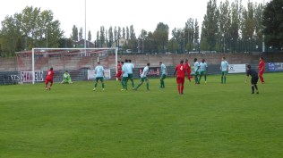 Early in the second half and the Wood test the opponents' keeper..and the defence, too
