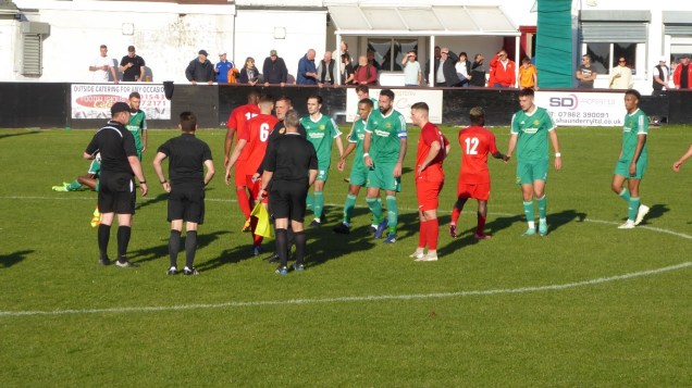 The final whistle. The game ends in a slightly ragged fashion. Not the Wood's day, today
