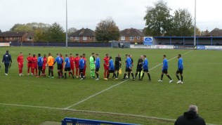 Long Eaton played in blue and black. Walsall Wood played in red