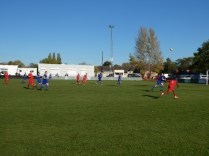 Early in the first half and an attacking move by the Wood to challenge Quorn. Positive