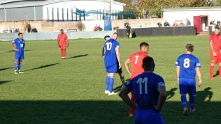 A Quorn player, already on a yellow card, attracts more words of wisdom from the man in black. Time for a break beckons .