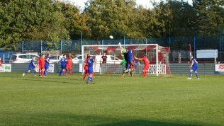 Final moments and Quorn launch a four limb attack on the Wood's goal. But, despite all, to no avail.